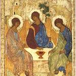 L'Hospitalité d'Abraham, signe de la Transfiguration en laquelle se reconnaissent les Artisans de Paix avec la diversité des traditions qui sont les leurs