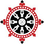 La roue du Dharma symbolise l'égalité de tous les êtres devant la nature du Réel