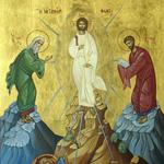 Transfiguration de la matière en lumière, tandis que Moïse, Jésus et Elie s'entretiennent