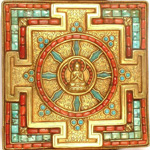 Mandala qui représente la Bouddhéité, soit la vie de l'univers
